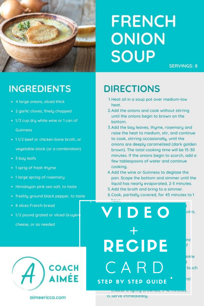 French Onion Soup Easy Recipe and Video Tutorial