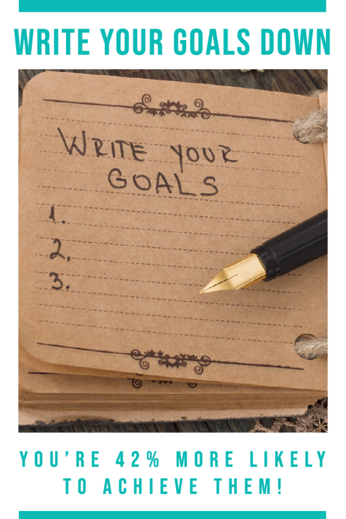 Write Your Goals Down You're 42% More Likely to Achieve Them